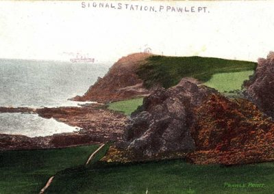 Postcard of the Signal Station at Prawle Point, now National Coastwatch