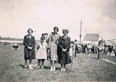 1953 Coronation at East Prawle, Hazel Blank, Mike Trant, Lorraine Trant, Brenda Blank 2 June 1953