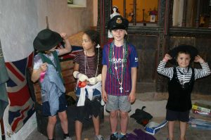 Open Day children at the Dressing up box