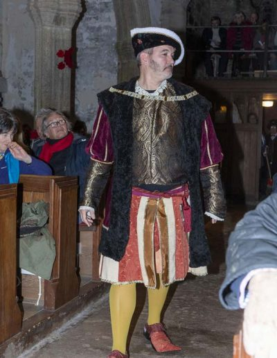 Mummers Play Henry VIII's entrance