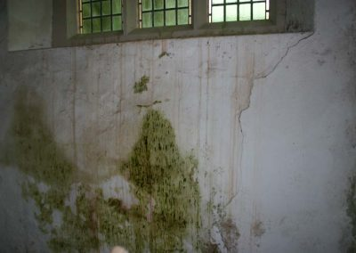 Another area of damp in the Church