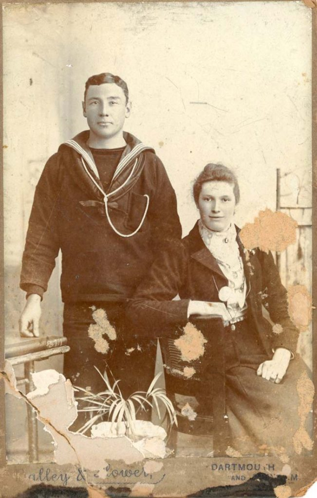 William George Eastman and Betsy Eva nee Hutchings around 1905