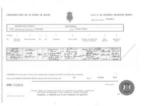 William Trible death certificate