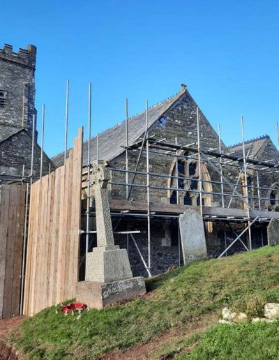 St Sylvester's East side with scaffolding