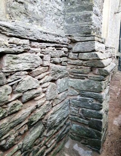 North wall prepared for repointing