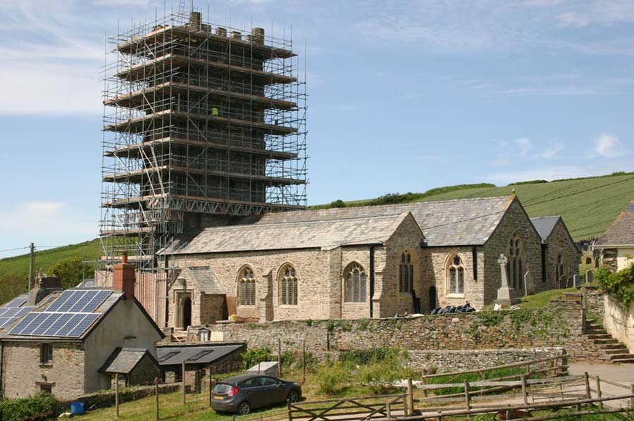 Renovated south side of St Sylvester's Church June 2021