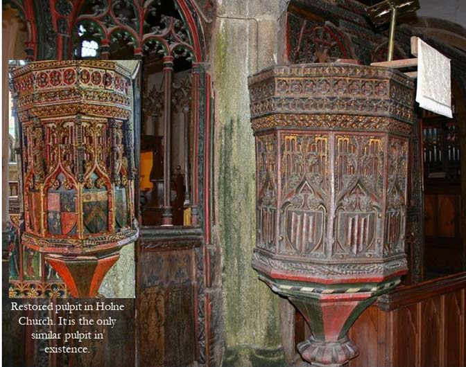 St Sylvester's pulpit and Holne pulpit