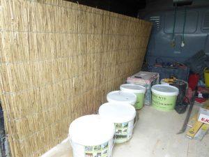 Reed materials for repairing vestry ceiling